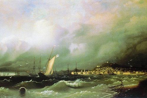 Старая Феодосия. 1845, 30х40 см.