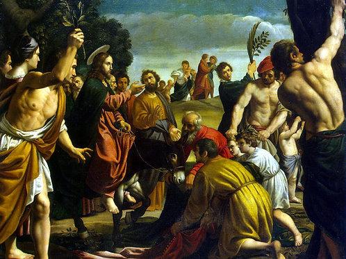Орренте, Педро - Въезд Христа в Иерусали,30х40 см.