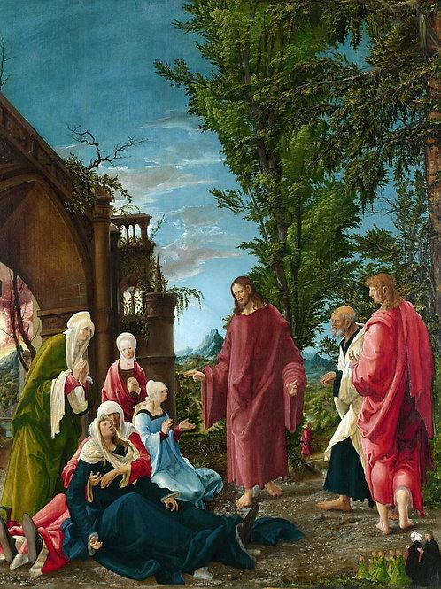 Альбрехт Альтдорфер - Прощание Христа с, 30х40 см.