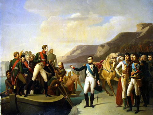 Прощание Наполеона с Александром I в Ти, 30х40 см.