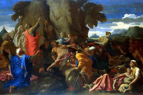 Пуссен, Никола - Моисей, иссекающий вод, 30х40 см.