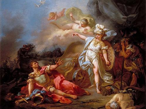 Давид,   Битва Минервы и Марса 30х40 см.