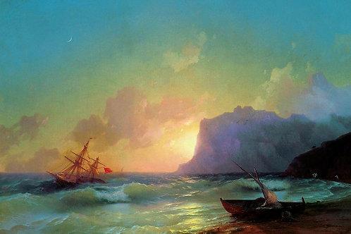 Море. Коктебель. 1853, 30х40 см.