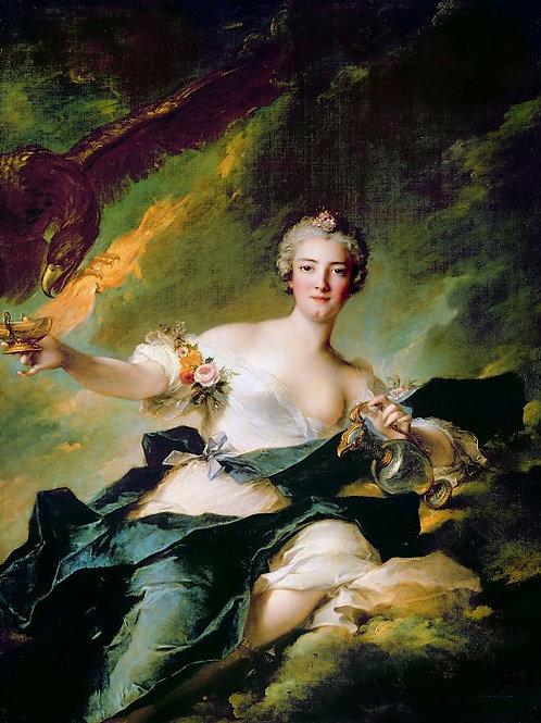 Наттье, Жан-Марк (Париж 1685-1766) -- Ге,30х40 см.