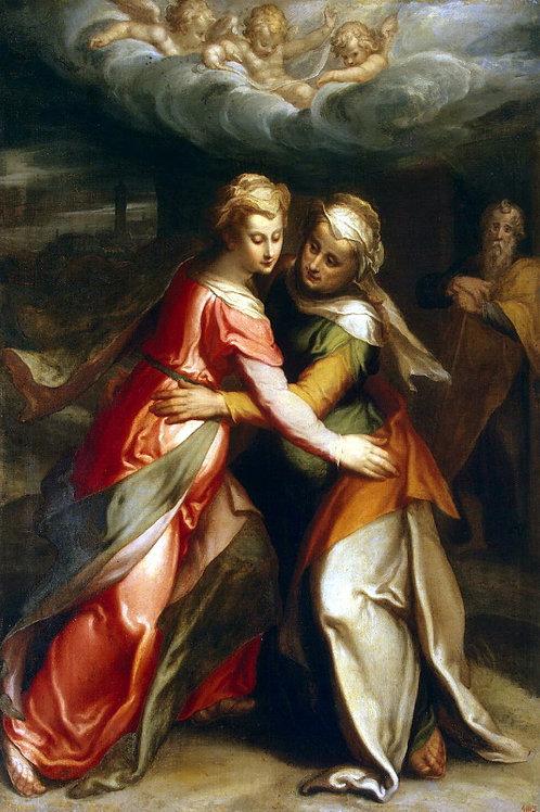 Встреча Марии с Елизаветой, 30х40 см.