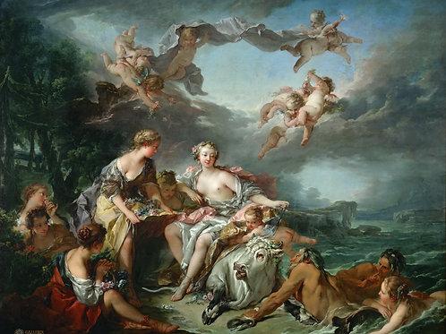 Буше, Франсуа -- Похищение Европы, 1747,,30х40 см.
