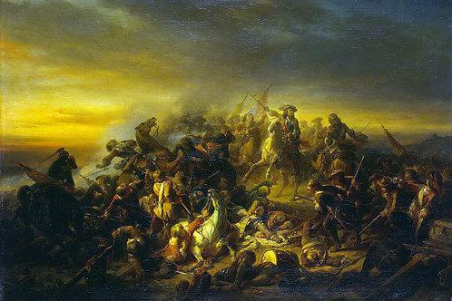 Кейзер, Никез де - Сражение при Сенефе1, 30х40 см.