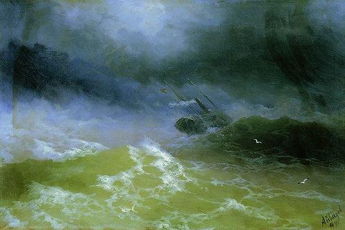 Ураган. 1899, 30х40 см.