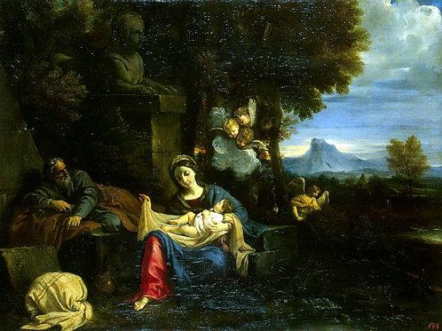 Мола, Пьер Франческо - Отдых Святого С,  30х40 см.