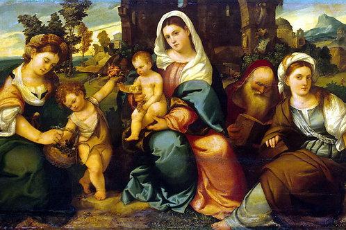 Бонифацио, Мадонна с младенцем, 30х40 см.