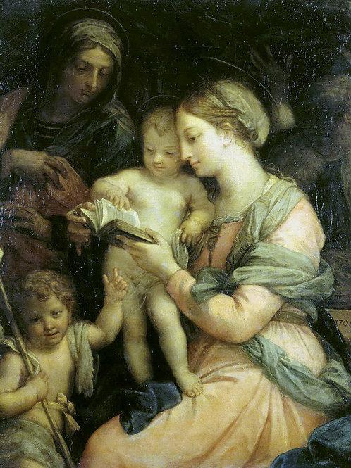 Маратти, Карло - Мадонна учит чтению Х,  30х40 см.