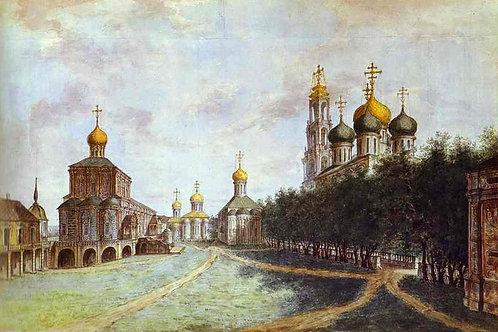 Троице-Сергиева лавра. 1800,  30х40 см.