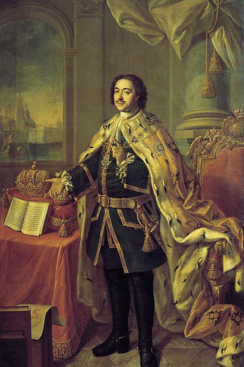 Портрет Петра I. 1770 30х40 см.