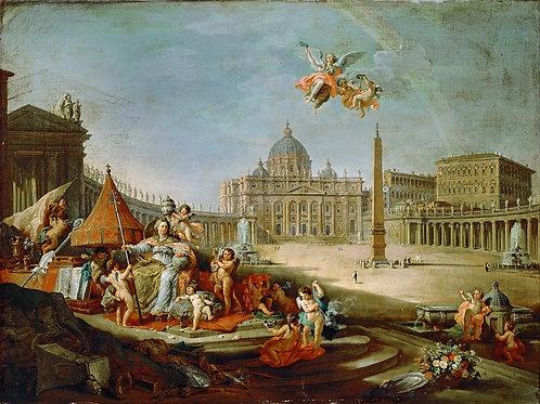 Панини, Джованни Паоло (1691 Пьяченца - ,30х40 см.
