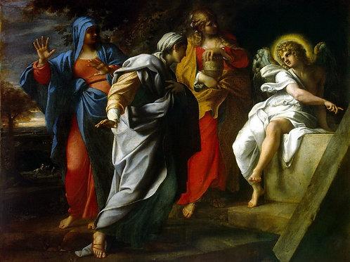 Карраччи, Святые жены у гроба Христа, 30х40 см.
