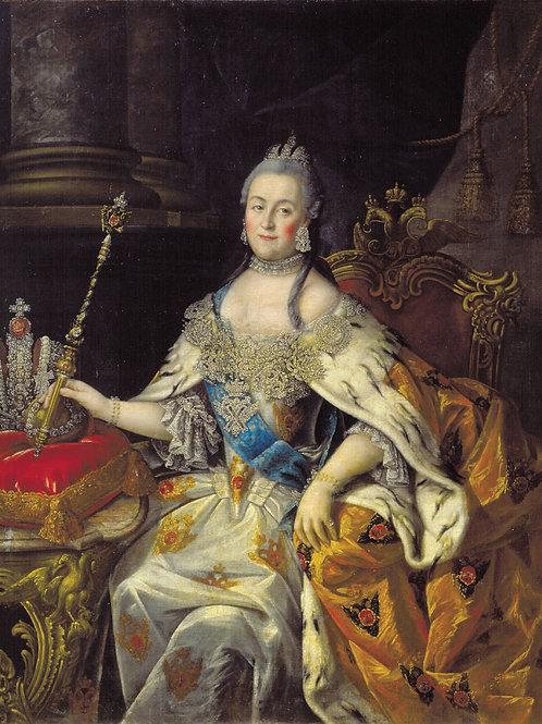 Портрет Екатерины II. 1766. 30х40 см.