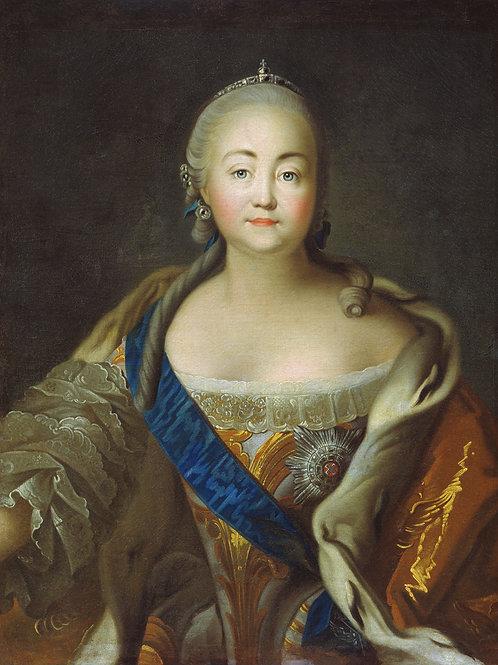 Портрет императрицы Елизаветы Петровны.  30х40 см.