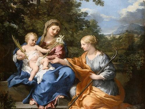 Пьетро да Кортона, Мадонна с Младенцем и 30х40 см.