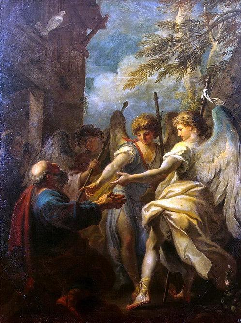 Риччи, Себастьяно - Авраам и три ангела, 30х40 см.