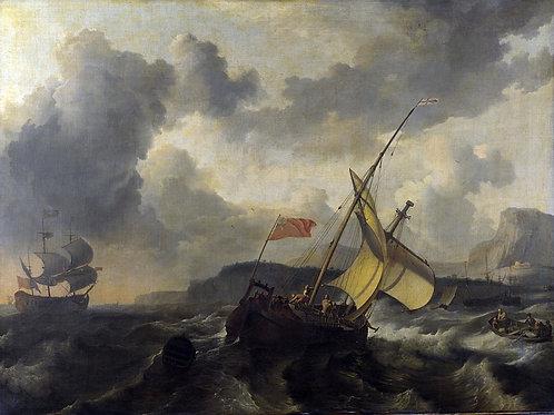 Людольф Бакхейзен - Английское судно, 30х40 см.