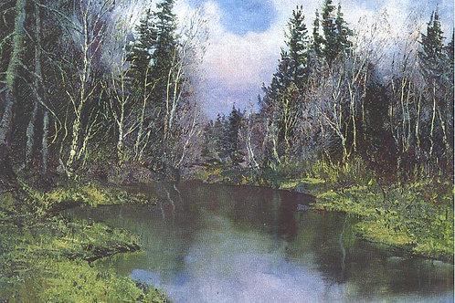 «Лесное озеро»   30х40 см.