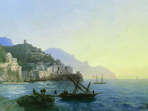 Вид Амальфи. 1865, 30х40 см.