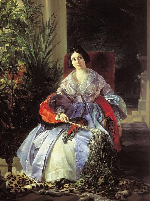 Портрет светлейшей княгини Елизаветы   30х40 см.
