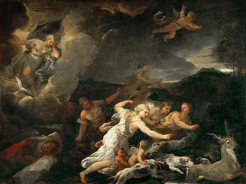 Джордано, Лука (Неаполь 1632-1705) -- Ди,30х40 см.
