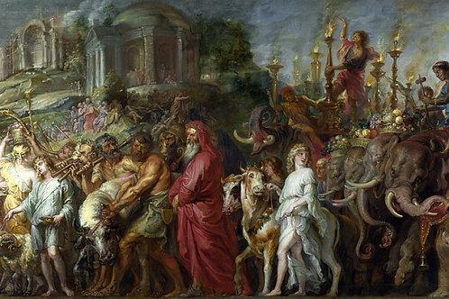 Питер Пауль Рубенс - Триумф Рима, 30х40 см.
