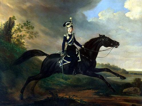 Крюгер, Франц - Великий князь Александр, 30х40 см.