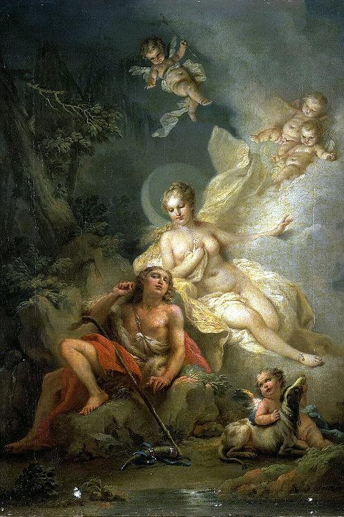 Торелли, Стефано - Диана и Эндимион, 30х40 см.