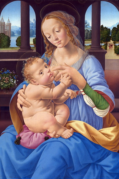 Лоренцо ди Креди - Мадонна с Младенцем, 30х40 см.
