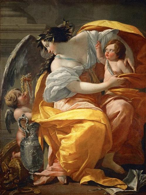 Вуэ, Симон (Париж 1590-1649) -- Аллегор ,30х40 см.