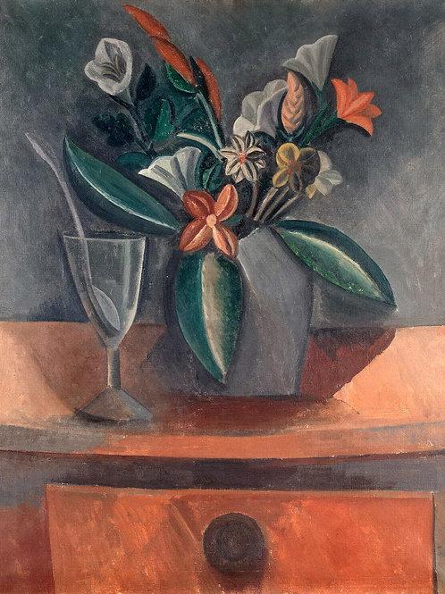 Пикассо, Пабло - Букет цветов в сером ку,30х40 см.