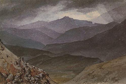 Дорога в Синано после грозы. 1835, 30х40 см.