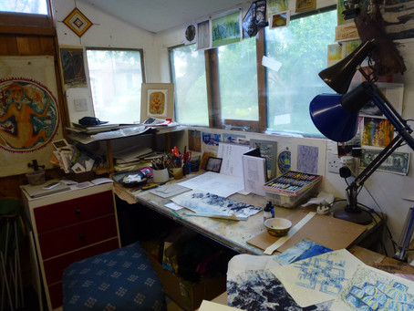Marion Holden shows us her work space