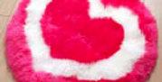 HEART - Long Woolled Sheepskin Designer Playrug