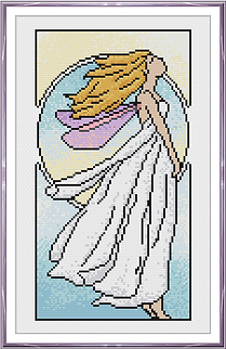 Nouveau Air Fairy white blonde framed.PN