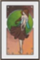 Nouveau Earth Fairy white brunette frame