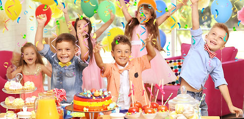 Children's funny birthday party in decor
