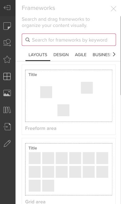 Screenshot von Menü Frameworks