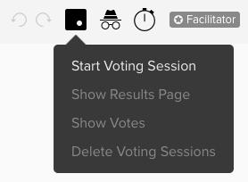 Screenshot von Menü zu Voting Session