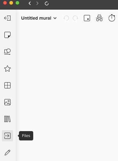 Screenshot von Werkzeugleiste, mit Hinweis auf Files