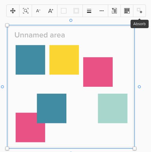 Screenshot von markierten Elementen mit ausgeklappten Menü mit Hinweis auf Absorb