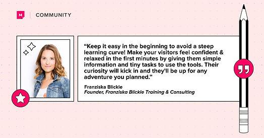 Vorstellung von Franziska Blickle in der MURAL Community