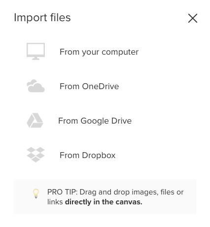 Screenshot von Impot Files mit Optionen des Einfügens