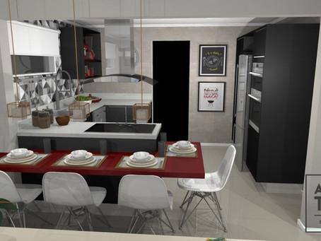 Cozinha e salas integradas (PR19)