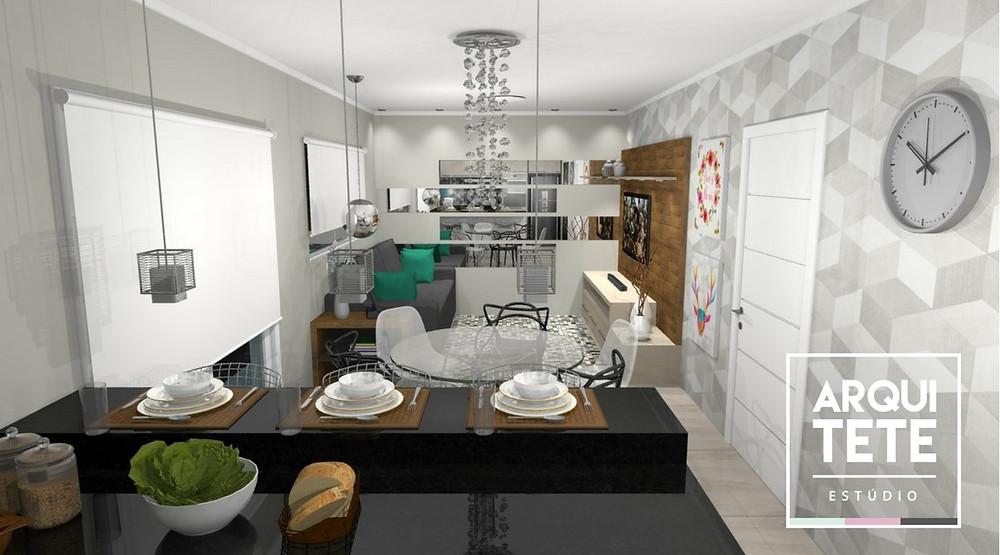 A Reforma da cozinha e da sala, foi realizada em um sitio na cidade de Piedade, seguimos o estilo do casal, que gostam de uma decoração despojada e ao mesmo tempo moderno!