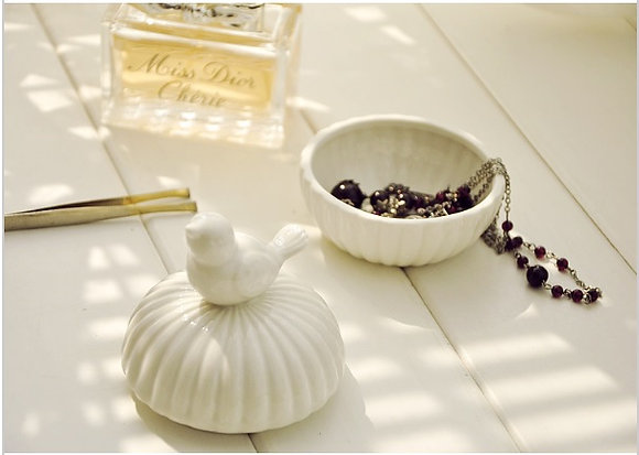 Ceramic White Jewellery Box