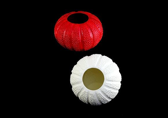 Round Red White Vase